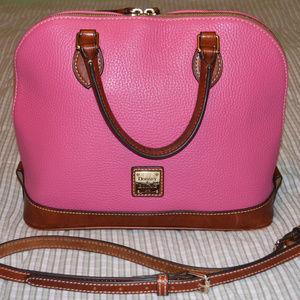 Dooney & Bourke Zip Satchel Pink Bag Satchel